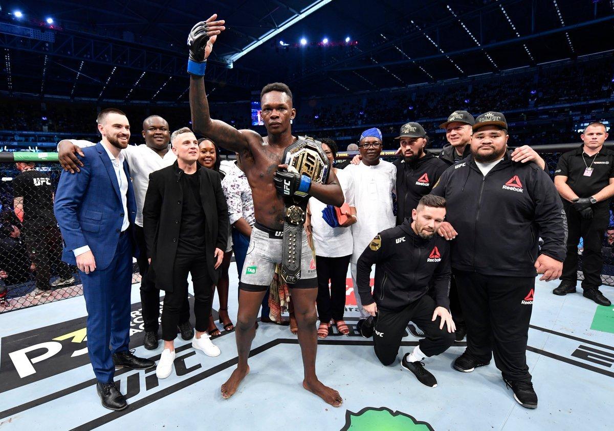 UFC 243 Adesanya KOs Whittaker for Undisputed Crown