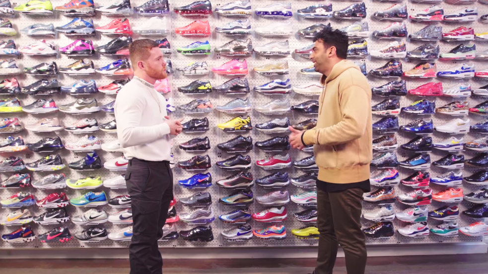 Watch Canelo Drop $20K On Sneakers With