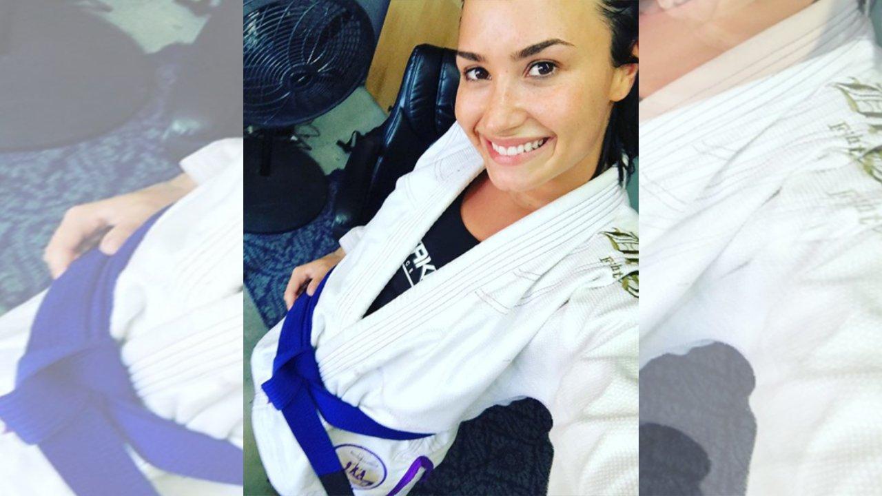 Demi Lovato Earns BJJ Blue Belt   FIGHT SPORTS